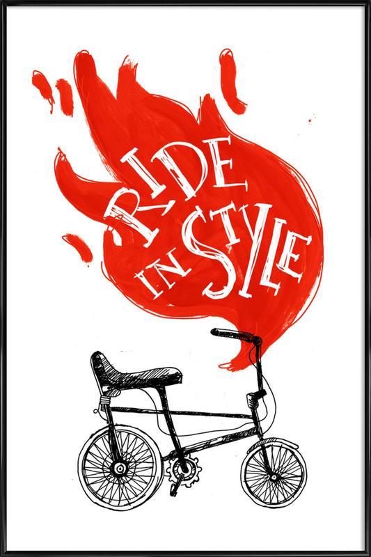 Ride ingelijste poster