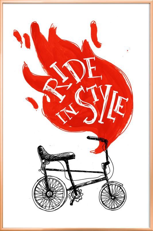 Ride -Poster im Alurahmen