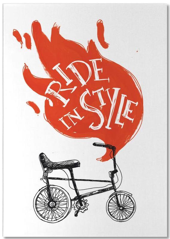 Fahrräder, Zitate & Slogans, Ride -Notizblock