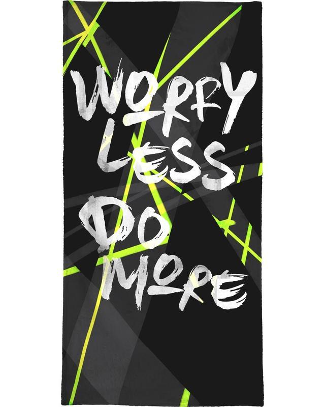 Worry Less serviette de plage