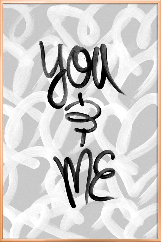 You and Me Poster in Aluminium Frame