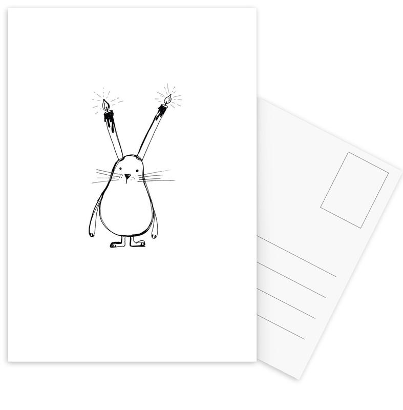 B-Day Bunny Postcard Set