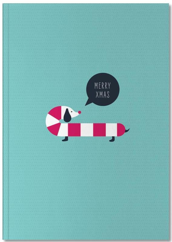 Christmas, Nursery & Art for Kids, Dog Candy Notebook