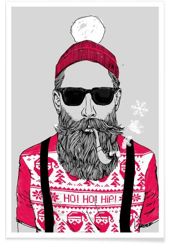 Ho Ho Hipster poster