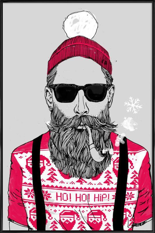 Ho Ho Hipster Framed Poster