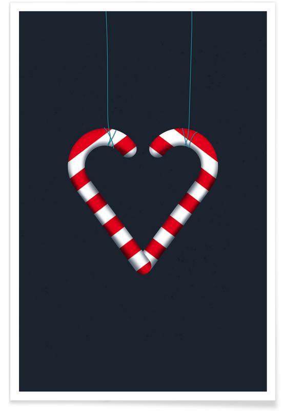 Noël, I Love Candy Canes affiche