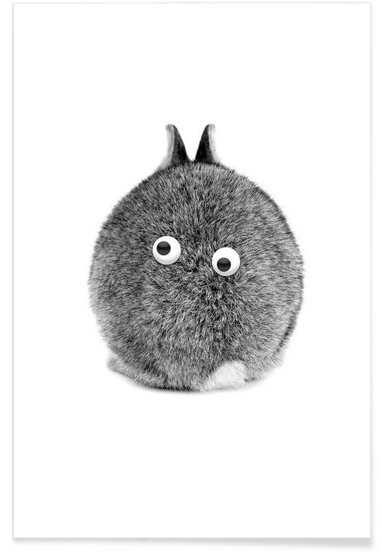 Rabbits, Bunny Eyes Poster