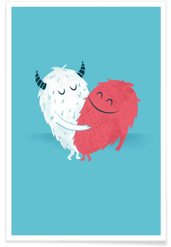 Valentine's Day, Monsters by Heart Poster