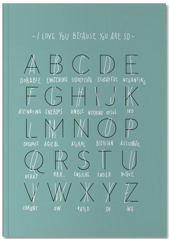 Alphabet of Love Notebook