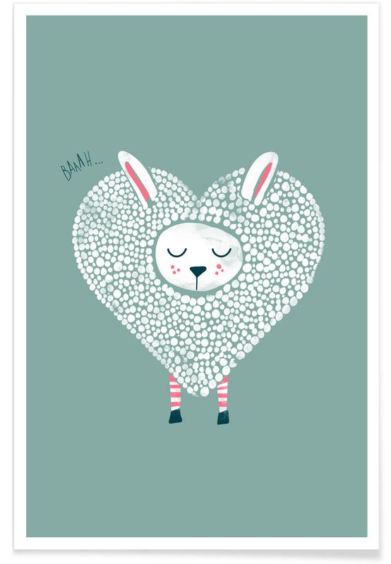 Valentine's Day, Sheep, Cute Love Poster