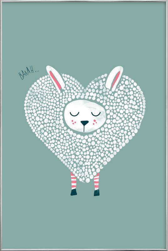 Cute Love Poster in Aluminium Frame