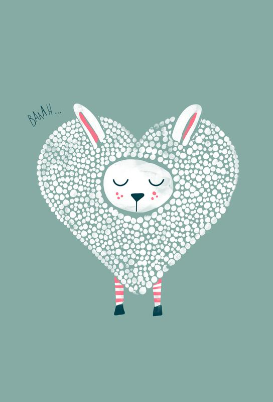Cute Love Aluminium Print