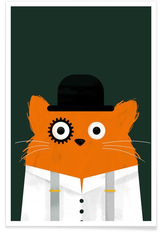 Katzen, Filme, Cat - Clockwork -Poster