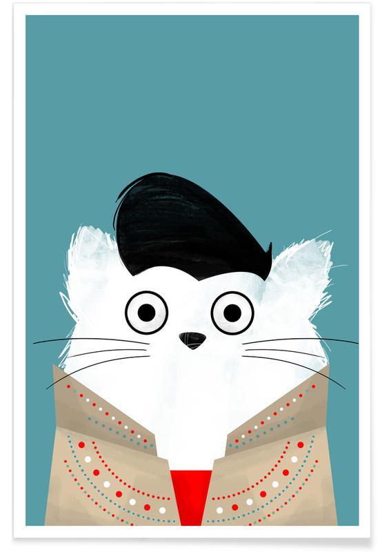 Katzen, Elvis, Cat - Elvis -Poster