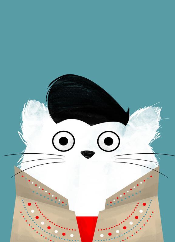 Cat - Elvis Canvas Print