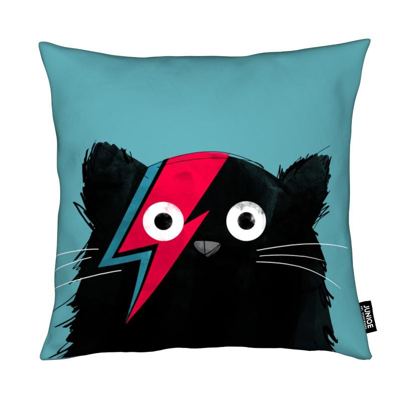 David Bowie, Chats, Cat - Hero 2 coussin