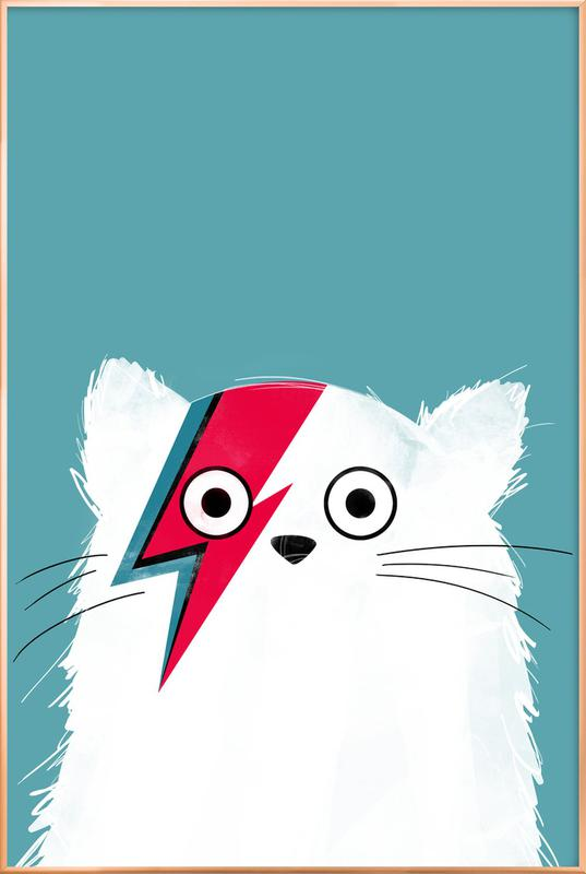 Cat - Hero 3 Poster in Aluminium Frame