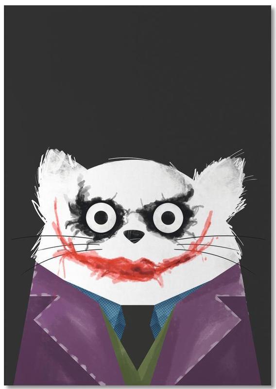 Filme, Katzen, Joker, Cat - Joker -Notizblock