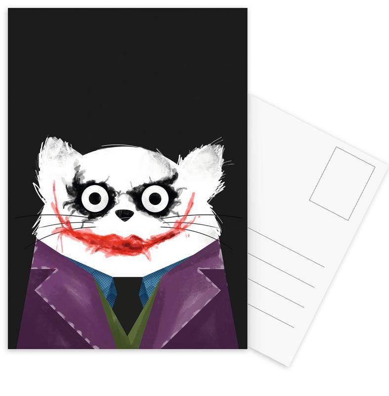 Movies, Joker, Cats, Cat - Joker Postcard Set