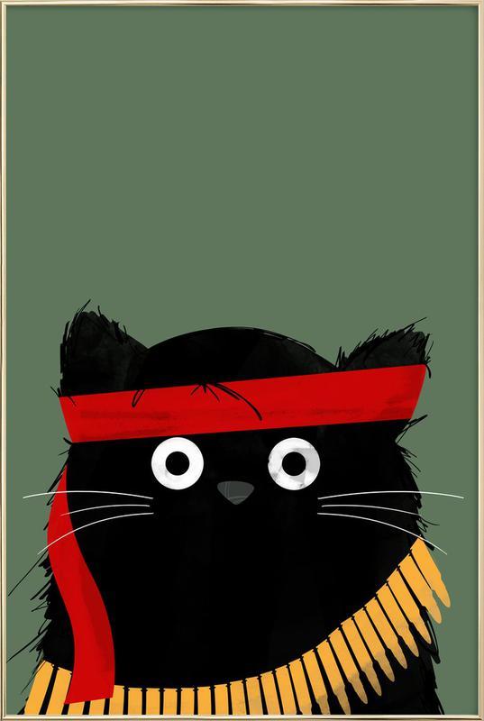 Cat - Rambo Poster in Aluminium Frame