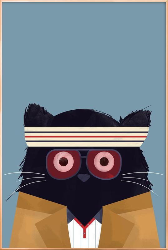 Cat - Tenenbaum Poster in Aluminium Frame