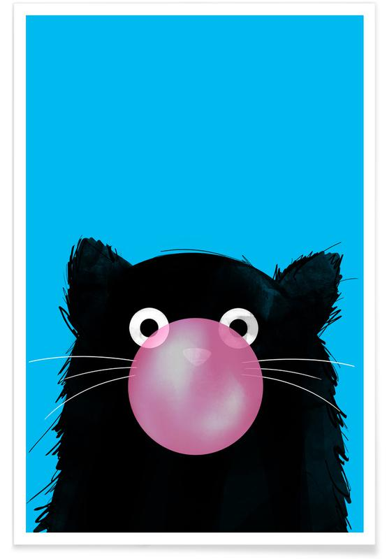 Katten, Cat Bubble poster