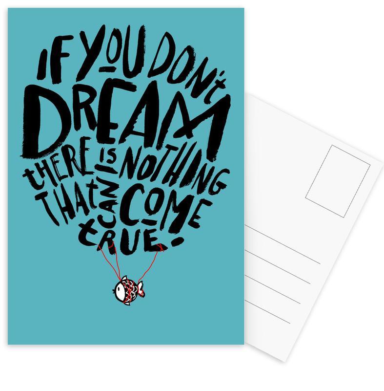 Reizen, Quotes en slogans, If You Don't Dream ansichtkaartenset