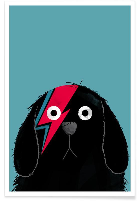 David Bowie, Honden, Dog Bowie Black poster
