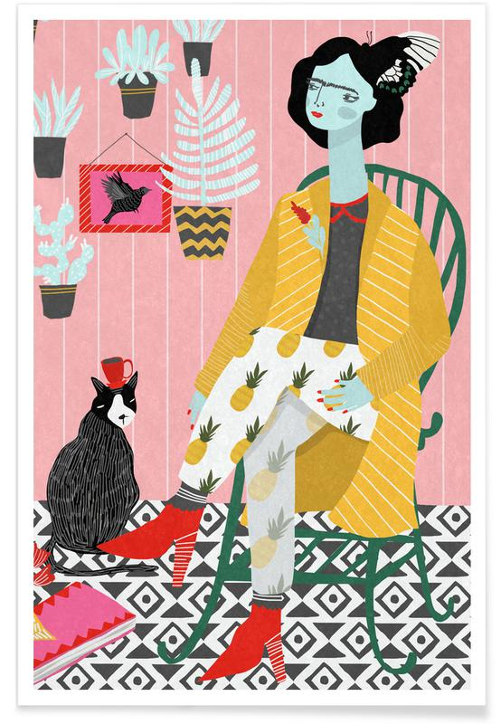 Frida Kahlo, Green Chair Poster