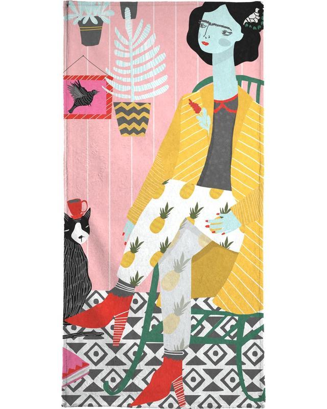 Frida Kahlo, Green Chair serviette de plage