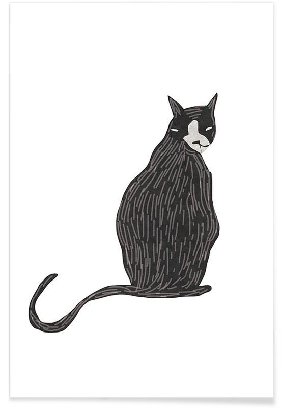 Schwarz & Weiß, Katzen, Looking at You -Poster