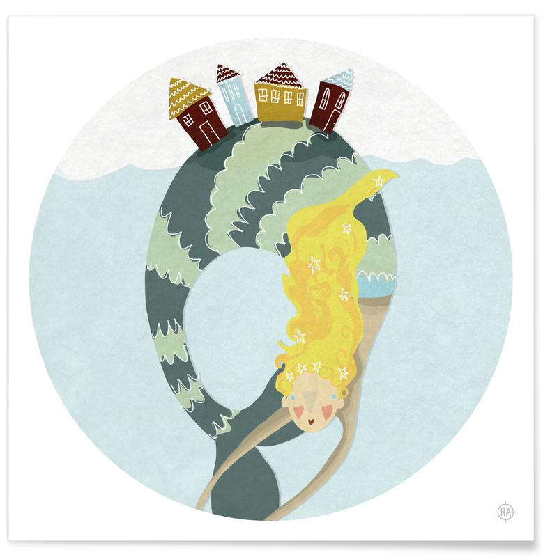 Art pour enfants, Mermaid affiche