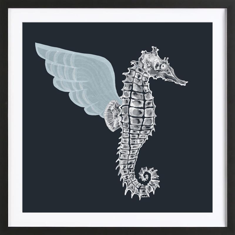 Pegasus -Bild mit Holzrahmen