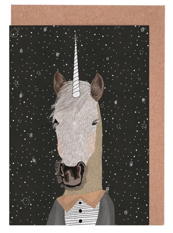 Unicorn -Grußkarten-Set