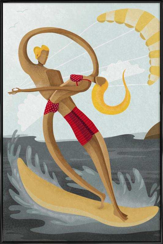 Surf Love Framed Poster