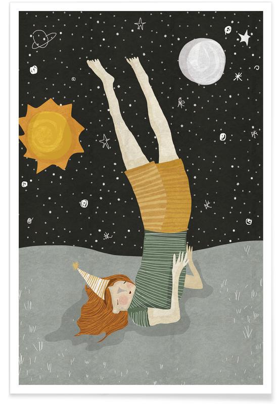 Anniversaires, Art pour enfants, Around the Sun affiche