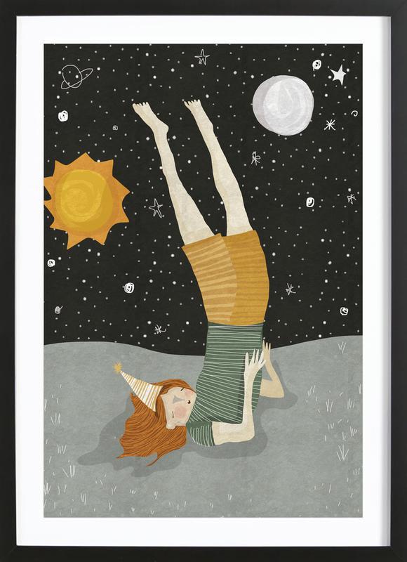 Around the Sun -Bild mit Holzrahmen