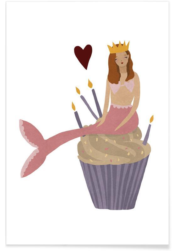 Födelsedagar, Birthday Mermaid Poster