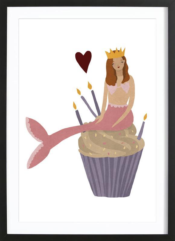 Birthday Mermaid Framed Print