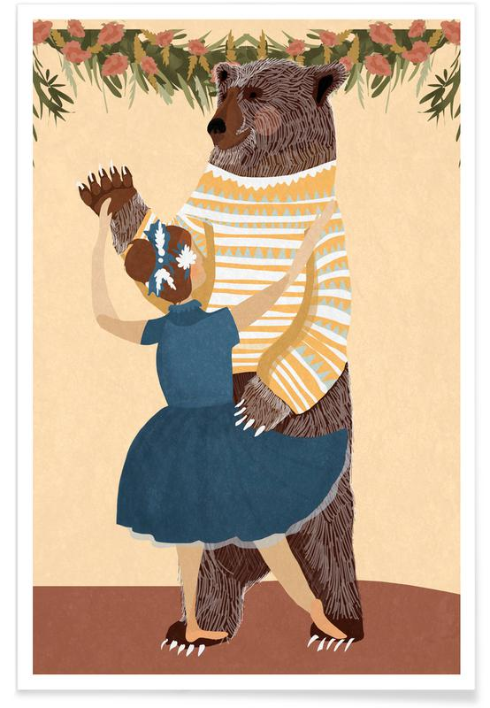 Geburtstage, Kinderzimmer & Kunst für Kinder, Hochzeiten, Dance -Poster