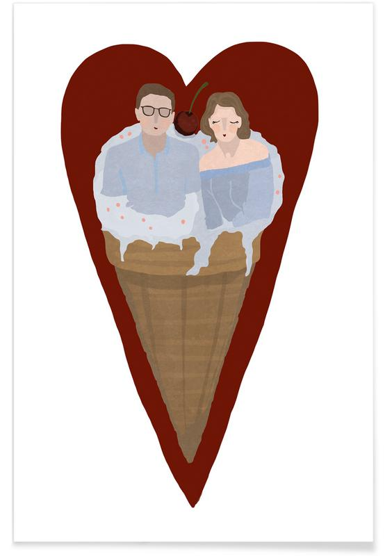 Couples, Anniversaries & Love, Weddings, Two Scoops Are Better Poster