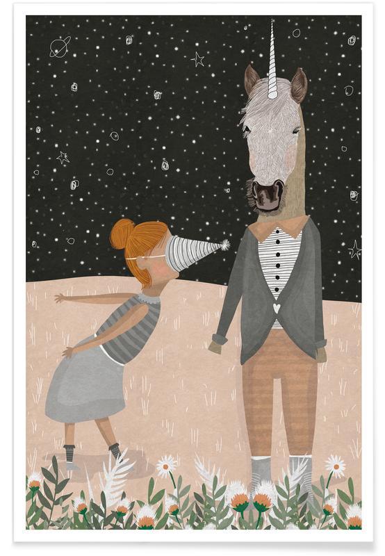 Anniversaires, Félicitations, Licornes, Unicorn Party affiche