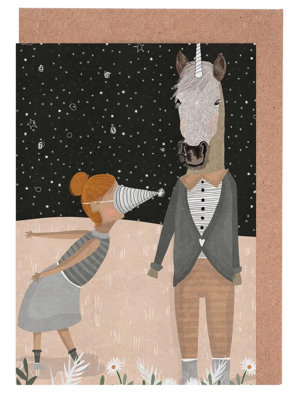Unicorn Party -Grußkarten-Set