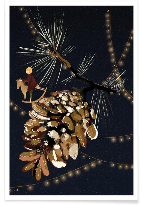 Noël, Art pour enfants, Christmas 2 affiche