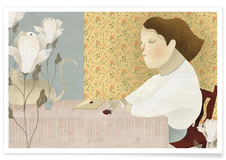 Rêve, Art pour enfants, Love Mail affiche