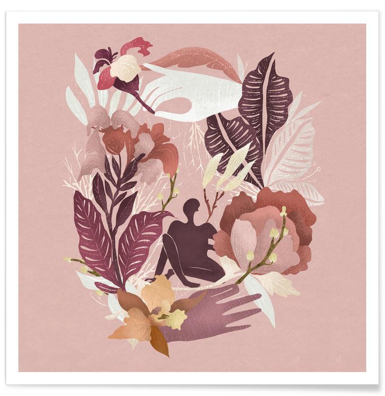 Drømmende, Børneværelse & kunst for børn, Spring Plakat