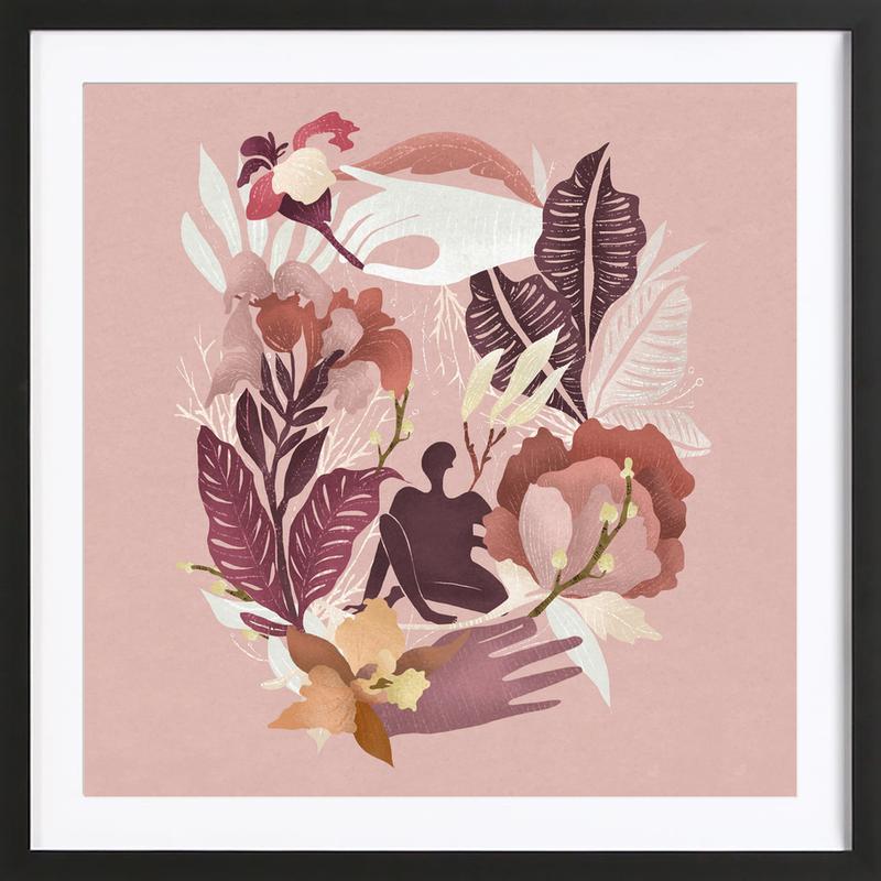 Spring ingelijste print