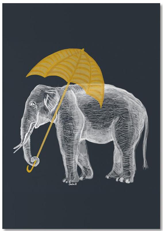 Elephant with Umbrella Notepad