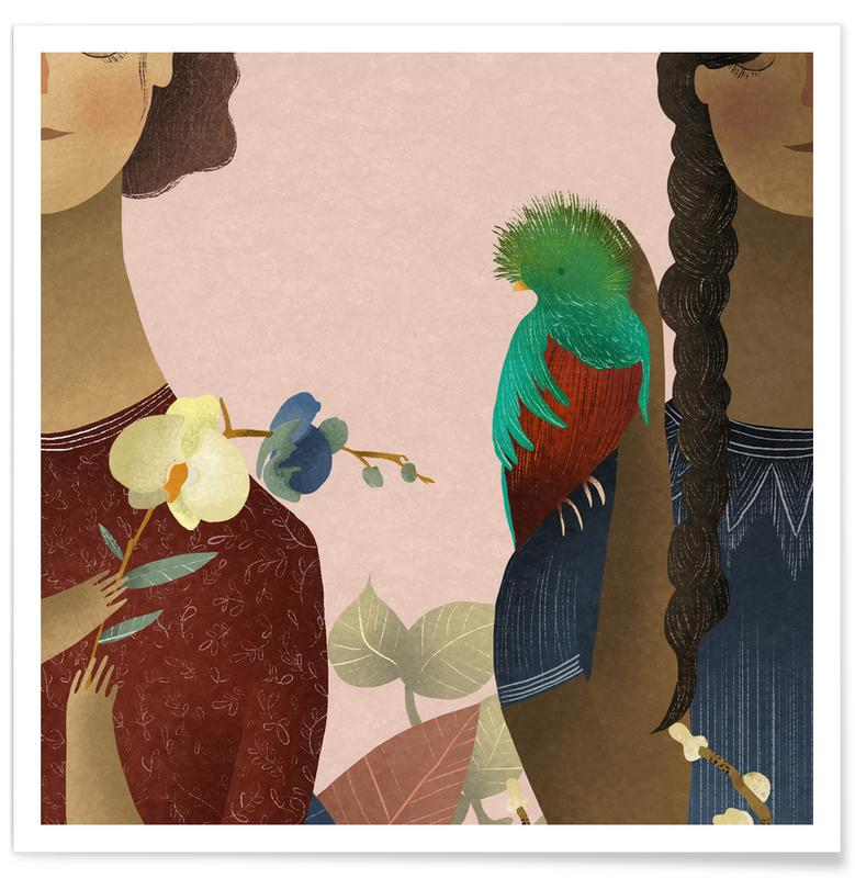 Rêve, Art pour enfants, Women affiche