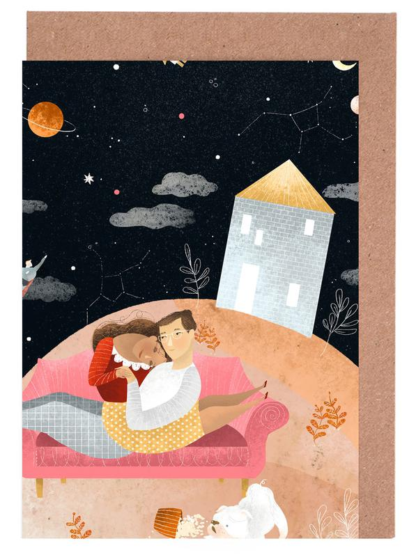 Love In Space Greeting Card Set